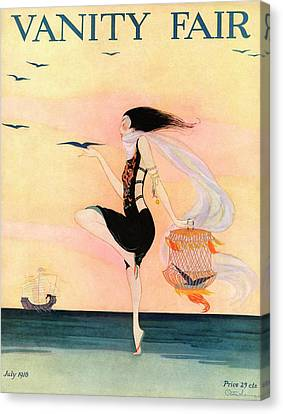 A Magazine Cover For Vanity Fair Of A Woman Canvas Print by Rita Senger