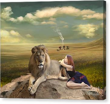 A Magnificent Friendship Canvas Print by Linda Lees