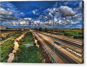 Canvas Print featuring the photograph a majestic springtime in Israel by Ron Shoshani