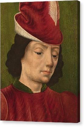 Martyr Canvas Print - A Male Figure Perhaps Saint Sebastian A by Savoyard School