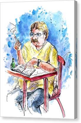 A Man And His Moustache Canvas Print by Miki De Goodaboom