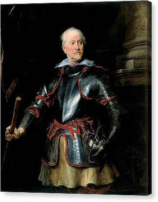A Man In Armour, C.1621-27 Oil On Canvas Canvas Print by Sir Anthony van Dyck