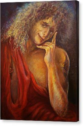 A Man In Toga Canvas Print