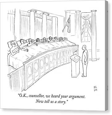 Free Canvas Print - A Man Is Seen Standing In Front Of A Panel by Paul Noth