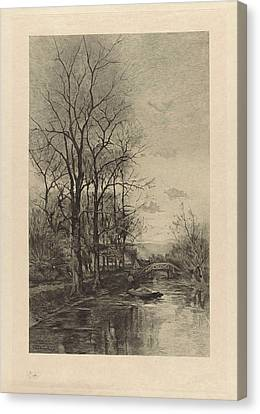 A Man On A Boat, Willem Steelink II Canvas Print by Willem Steelink (ii)