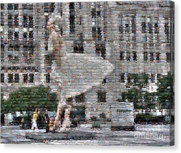 A Marilyn Mosaic Canvas Print by David Bearden