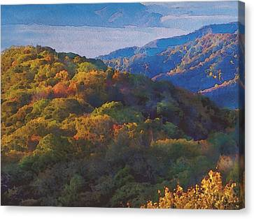 Canvas Print - a Maxfield Parrish Autumn in the Smokies by Philip White