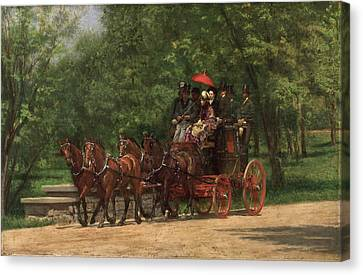 A May Morning In The Park. The Fairman Rogers Four-in-hand  Canvas Print