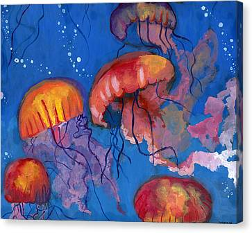 A Maze Of Jellyfish By Catherine Cui Canvas Print by California Coastal Commission