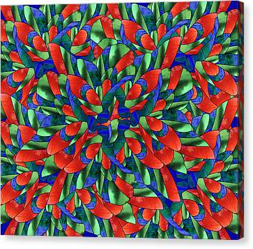 A Maze Of Nature Canvas Print by Georgiana Romanovna