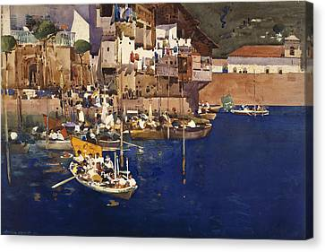 A Mediterranean Port Canvas Print