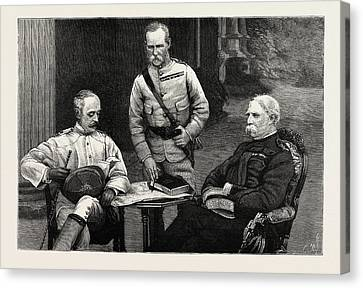 A Meeting Of The Commanders-in-chief Of The Army In India Canvas Print by Indian School