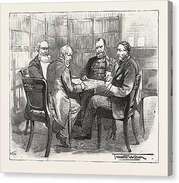 A Member Whist Party At The Athenaeum Club, Pall Mall Canvas Print