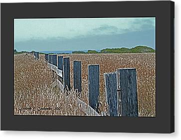 A Mendocino Fence Line Canvas Print by Joseph Coulombe