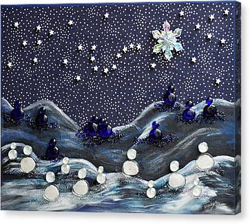 A Midnight Clear Canvas Print by Donna Blackhall