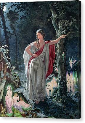 A Midsummer Nights Dream Hermia Canvas Print by John Simmons