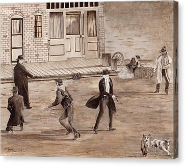 A Minor Misunderstanding Tombstone Az Canvas Print by Stuart B Yaeger