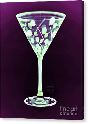 A Mint Martini On Plum Canvas Print