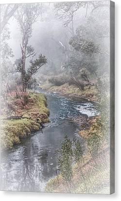A Misty Morning In Bridgetown Canvas Print by Elaine Teague