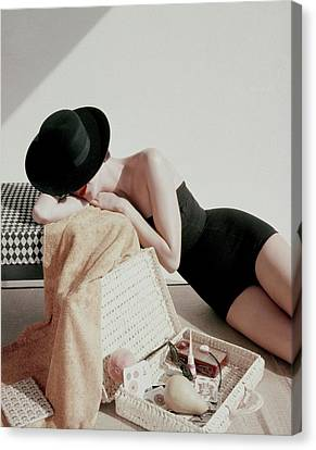 A Model Wearing A Catalina Maillot Canvas Print