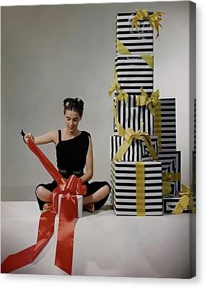 A Model Wearing A Dress By Margot Canvas Print