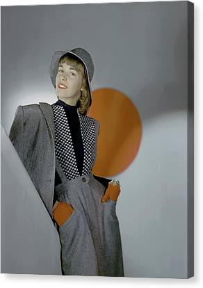A Model Wearing A Suit Canvas Print by Horst P. Horst