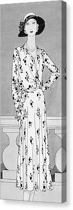 A Model Wearing A Vionnet Dress Canvas Print