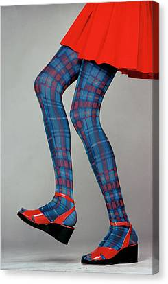 Getty Canvas Print - A Model Wearing Amerex Stockings by Puhlmann Rico