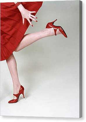 A Model Wearing Fleming-joffe Shoes Canvas Print by Richard Rutledge