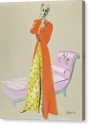 A Model Wearing Pajamas Canvas Print by R.S. Grafstrom