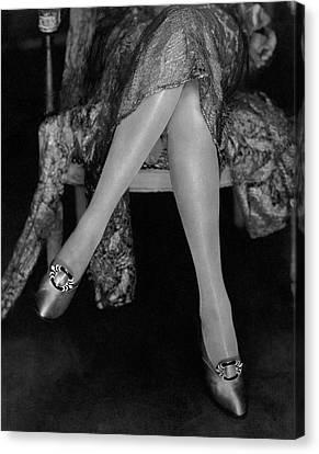 A Model Wearing Satin Shoes Canvas Print by Edward Steichen