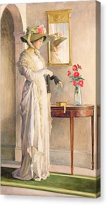 A Moment's Reflection Canvas Print by William Henry Margetson