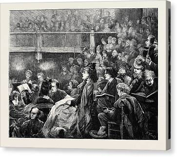 A Monday Popular Concert Canvas Print by English School