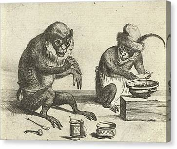 A Monkey, Print Maker Quirin Boel, David Teniers II Canvas Print