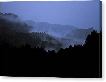 Canvas Print featuring the photograph A Monks View by Stewart Scott