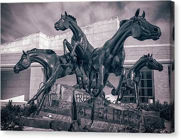 George Bush Canvas Print - A Monument To Freedom II by Joan Carroll