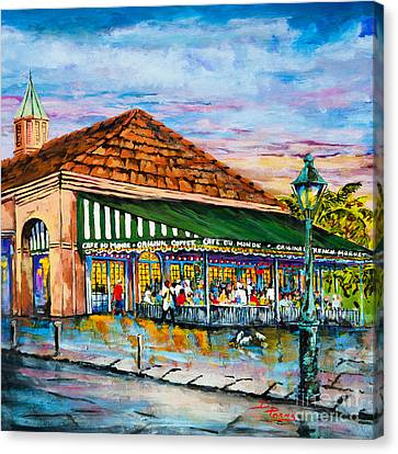 A Morning At Cafe Du Monde Canvas Print by Dianne Parks