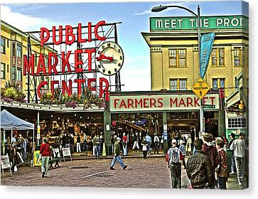 A Morning At Pikes Place Market Canvas Print by Gary Neiss