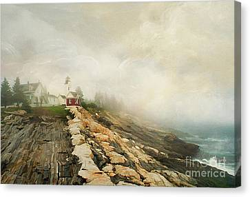 A Morning In Maine 2 Canvas Print by Darren Fisher