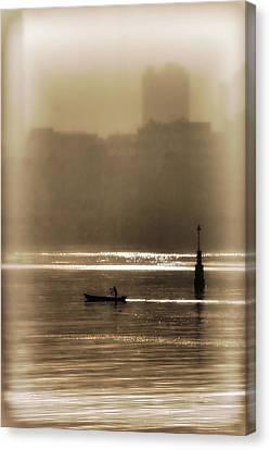 A Morning Paddle Canvas Print by Henry Kowalski