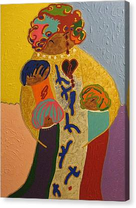 A Mother's Love Canvas Print by Clarissa Burton