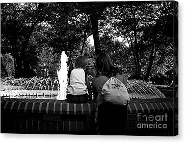 A Mother's Love Canvas Print by Frank J Casella
