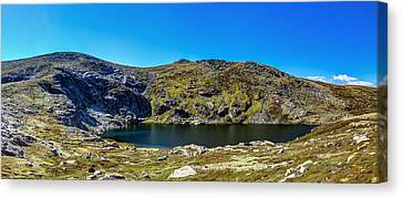 A Mountain Lake Canvas Print by Mark Lucey