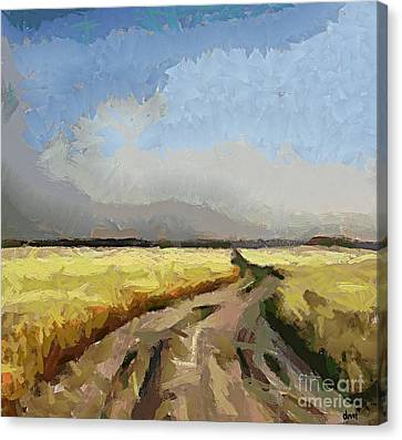Poster Canvas Print - A Muddy Cart Track by Dragica  Micki Fortuna