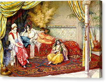 A Musical Interlude Canvas Print by F A Ferraresi