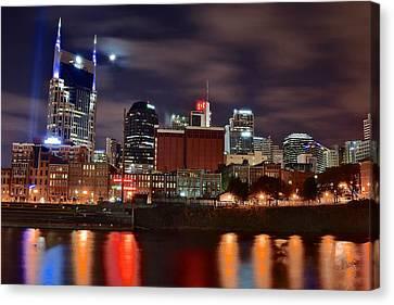 A Nashville Night Canvas Print