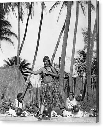 A Native Hawaiian Dancer Canvas Print by Underwood Archives