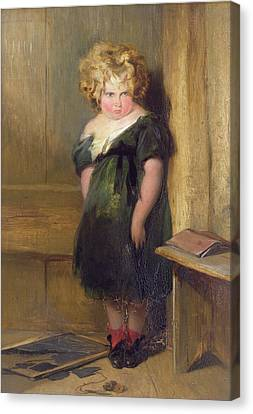 A Naughty Child Canvas Print by Sir Edwin Landseer