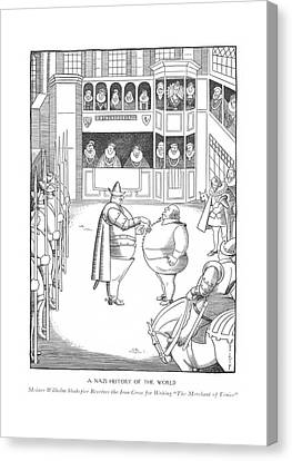 Shakespeare Canvas Print - A Nazi History Of The World  Meister Wilhelm by Rea Irvin