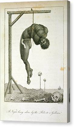 A Negro Hung Alive Canvas Print by British Library